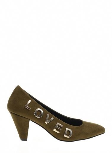 Twist Klasik Topuklu Ayakkabı Haki